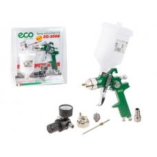 Краскораспылитель ECO SG-9500 с манометром (HVLP, сопло ф 1.4, 1.7 мм, верх. бак 600 мл, блистер)