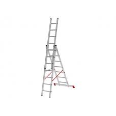 Лестница алюм. 3-х секц. 430/1126/450см 3х17 ступ., 38,5кг NV323 Новая Высота (макс. нагрузка 150кг)