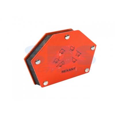 Держатель угольник магнитный для сварки на 6 углов усилие 22,6 Кг Rexant
