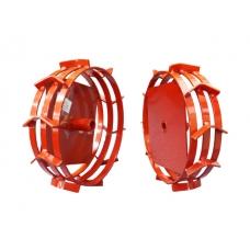 Грунтозацепы (комплект) KF для Oleo-Mac, V-400, V-500 (диам.340мм, шир. 90мм, 3 обруча) (посадочный диаметр 25 мм) (ВРМЗ)