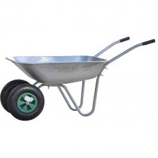 Тачка садовая BRADO 2x85 GARDEN (до 85л, до 150 кг, 2x3.5-6, пневмо)