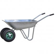 Тачка садовая SKIPER 2x85 FERMER (до 85л, до 150 кг, 2x3.5-6, пневмо)